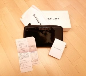 Givenchy Wallet black-gold-colored leather