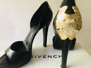 Givenchy High Heel Sandal black-gold-colored leather