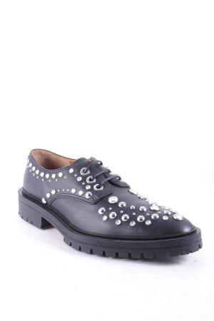 Givenchy Schnürschuhe schwarz-silberfarben extravaganter Stil