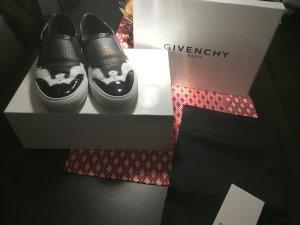 Givenchy Slipper schwarz weiß Nappaleder Ge. 39
