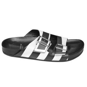 Givenchy Slippers aus Leder, Schwarz und Weiß, Gr. 37