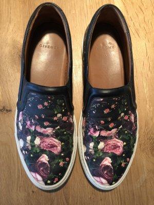 Givenchy Sneakers Slip On Skater Schuhe 41 aus Leder Floraler Print
