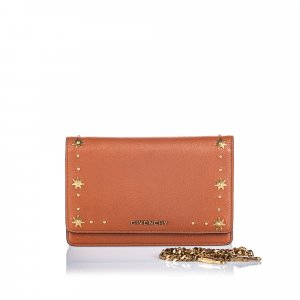 Givenchy Studded Leather Pandora Wallet on Chain