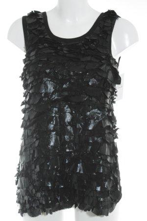 Givenchy Trägertop schwarz Materialmix-Look