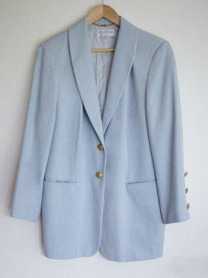 Givenchy Blazer largo azul celeste lana de esquila