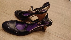 Gixus Strapped Sandals black-lilac leather