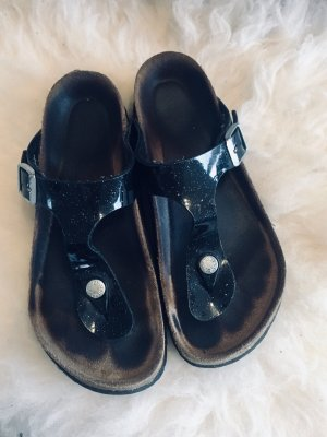 Birkenstock Toe-Post sandals black leather