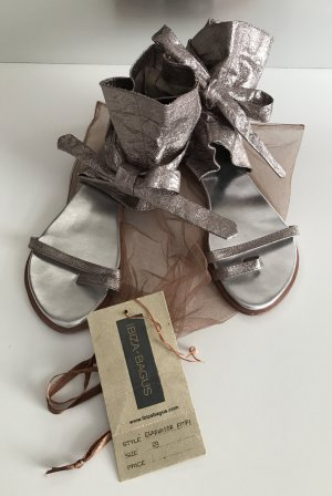 Roman Sandals light grey leather