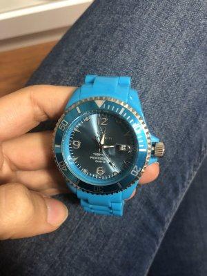 GLÄNZEND NEON BLAUE Uhr für Damen mit Stil