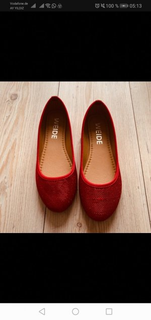 Mary Jane Ballerinas red