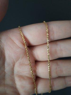 Glänzende Kette aus Italien , 45 cm, Silber mit Gold überzogen