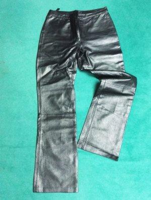 Pantalón de cuero gris antracita