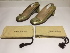 Louis Vuitton Pumps grijs-groen Leer