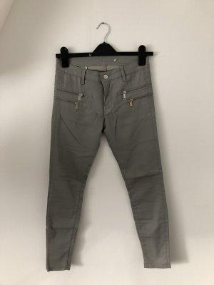 Zara Pantalon cigarette argenté