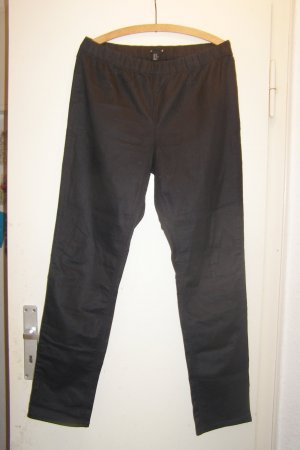 glänzende schwarze Treggins Gr. 50