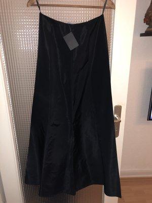 Mango Silk Skirt black