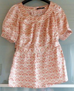 glänzendes cremefarbendes Vero Moda Shirt mit pinkem Blumenmuster