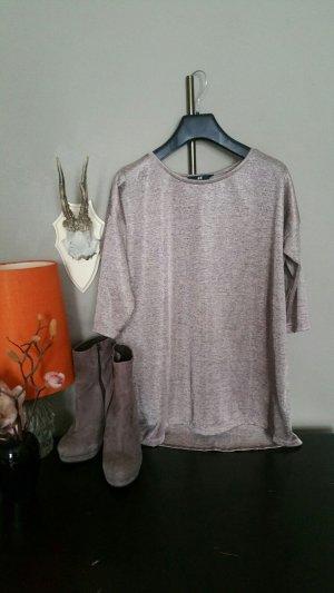 Glänzendes Oberteil, leicht oversize, taupe violett, XS, H&M , wie neu, Kombiversandidee