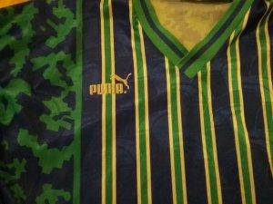 glänzendes Pumashirt ( mit Overlock tailliert umgenäht )