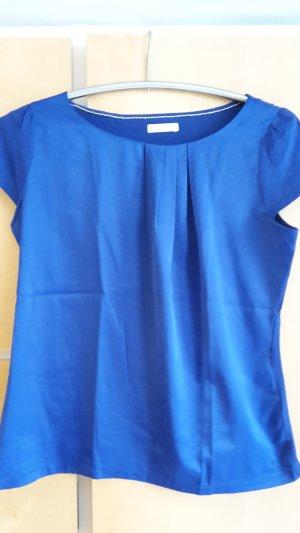 Glänzendes Shirt aus Satin in royalblau