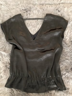 Saint Tropez Blouse Top anthracite polyester