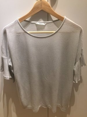 Only Top a balze argento-grigio chiaro