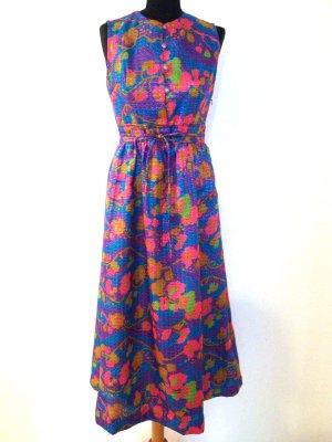 Glänzendes Vintage Maxi Kleid/ Abendkleid, Gr. 38