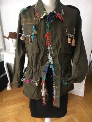 Glam rock Army Jacket Progress 5 ital 42 passt für 36/38