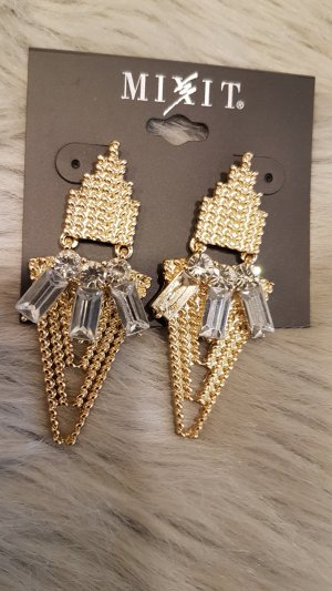Mixit Statement Earrings gold-colored