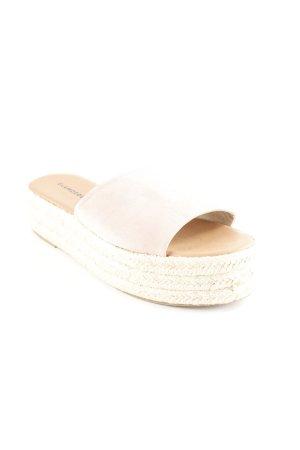 Glamorous Heel Pantolettes dusky pink-cream casual look
