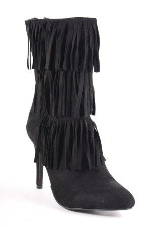 Glamorous Heel Boots black Boho look