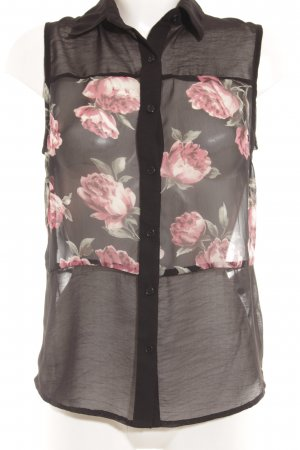 Glamorous ärmellose Bluse Blumenmuster Romantik-Look