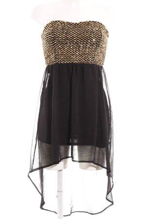 Glamorous Bandeaukleid schwarz-goldfarben Elegant