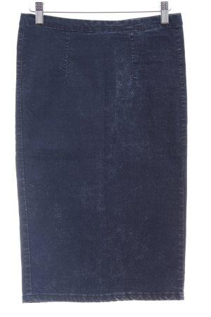 Glamorous Bleistiftrock dunkelblau Washed-Optik