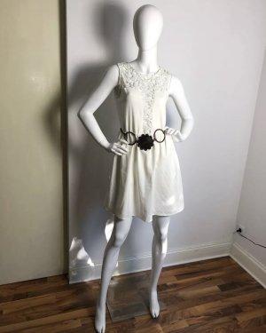 5cd41b3611842c GLAMOROUS Boho Hippie Kleid Häkel Ibiza Style Mit Metall Kupfer Gürtel
