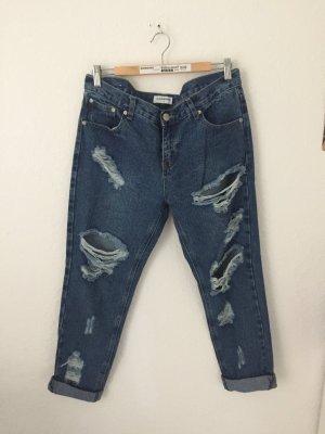 Glamorous Boyfriend jeans Destroyed Blau