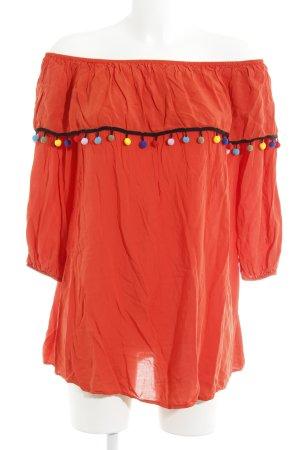 Glamorous Blouse Carmen orange foncé-rouge clair style décontracté