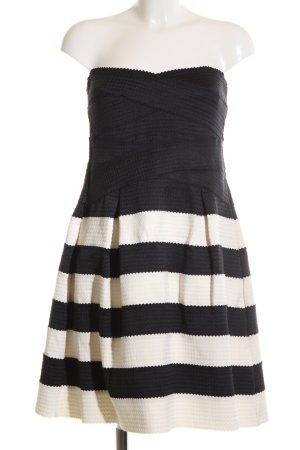 Glamorous Cocktailkleid schwarz-wollweiß Streifenmuster Elegant