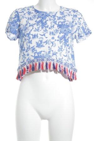 Glamorous Cropped Shirt mehrfarbig Boho-Look