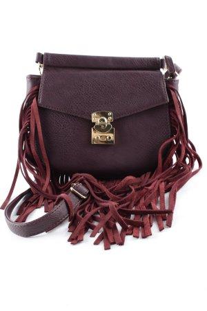 Glamorous Fringed Bag purple-gold-colored Boho look
