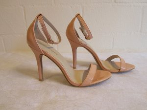 GLAMOROUS: Heels nude-apricot-farben, Gr. 38/UK 5