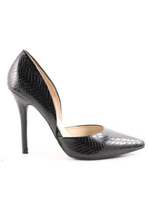 Glamorous High Heels schwarz Animalmuster Elegant
