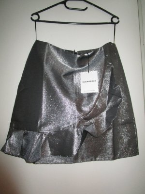 Glamorous Jupe taille haute gris anthracite-argenté polyester