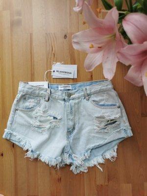Glamorous Jeans Short Destroyed Größe M