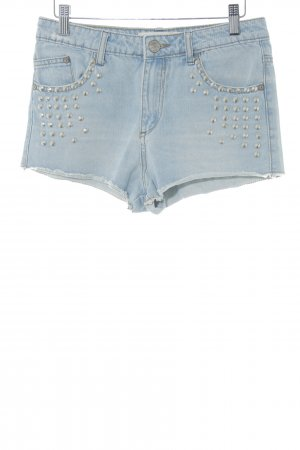Glamorous Denim Shorts azure-silver-colored casual look