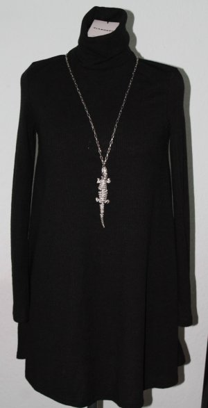 Glamorous Kleid Gr.34 schwarz, kurze A-Form Pulloverkleid