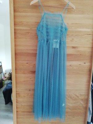 Glamorous Kleid Netz Tüll Seethrough Volants Spitze Lace