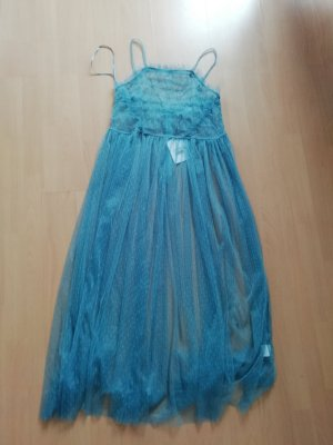 Glamorous Kleid Netz Tüll Seethrough Volants Spitze S
