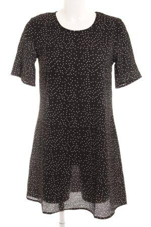 Glamorous Kurzarmkleid schwarz-weiß Punktemuster Casual-Look