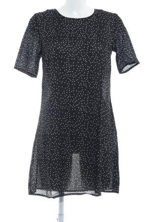 Glamorous Kurzarmkleid schwarz-weiß Punktemuster Elegant
